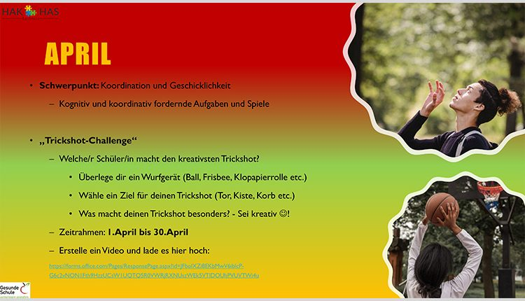 Sportchallenge der HAK/HAS Leibnitz im April