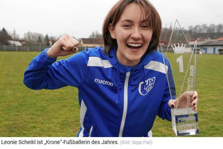 """Leonie Scheikl ist """"Krone""""-Fußballerin des Jahres"""